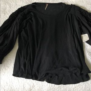 Black blouse from Free People!